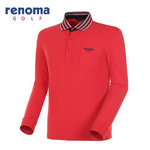 [레노마골프]남성 스트라이프 긴팔 폴로넥 티셔츠 RATS01511-RD