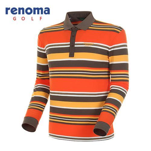 [레노마골프]남성 멀티 스트라이프 긴팔 피케 티셔츠 RATS18511-MS
