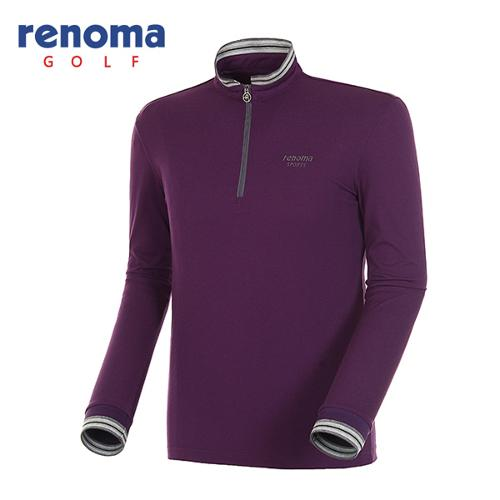 [레노마골프]남성 스트라이프 반집업 긴팔 티셔츠 RATS09511-VO