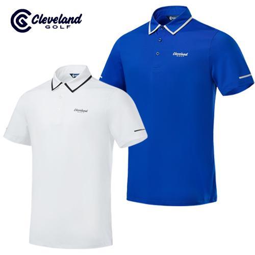 [클리브랜드골프] 카라배색 냉감스판 남성 반팔 티셔츠/골프티셔츠/골프웨어_CGKMTS731