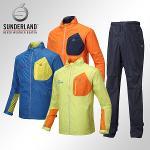 선덜랜드 남성 최고급 완벽방수 패치포인트 레인자켓/비옷 상하의세트(후드삽입형) - 16411WR03RP02