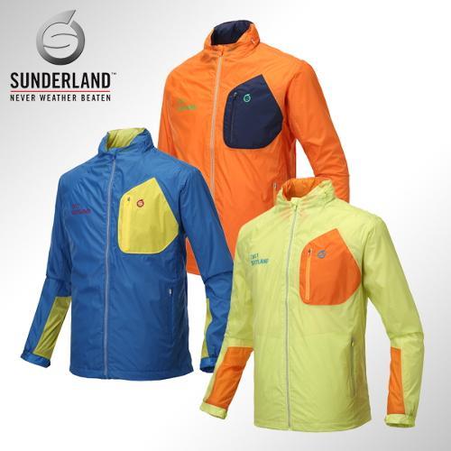 선덜랜드 남성 최고급 완벽방수 패치포인트 레인자켓/비옷 겸용 바람막이(후드삽입형) - 16411WR03