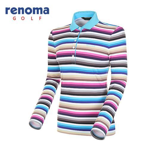 [레노마골프]여성 멀티 스트라이프 긴팔 티셔츠 RATS67511-LB