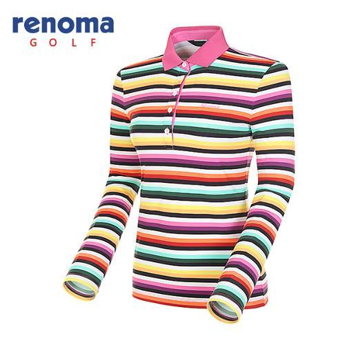 [레노마골프]여성 멀티 스트라이프 긴팔 티셔츠 RATS67511-PK