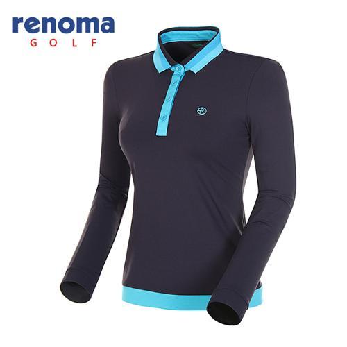 [레노마골프]여성 스트라이프 카라 긴팔 티셔츠 RATS51511-NY