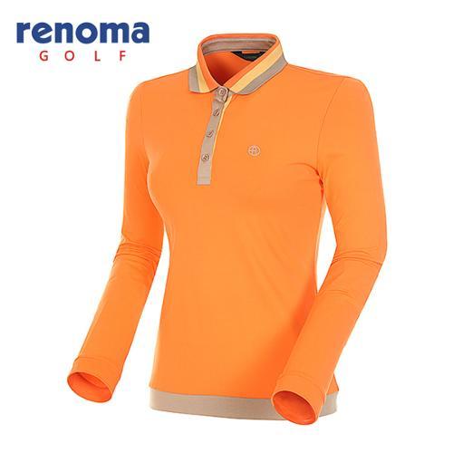 [레노마골프]여성 스트라이프 카라 긴팔 티셔츠 RATS51511-OR
