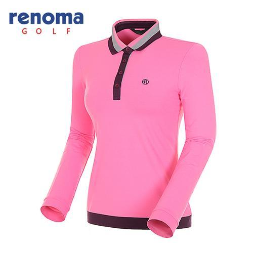[레노마골프]여성 스트라이프 카라 긴팔 티셔츠 RATS51511-PK