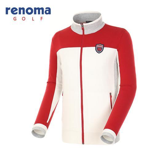 [레노마골프]남성 컬러 블럭 집업 스웨터 RAKC02611-RD