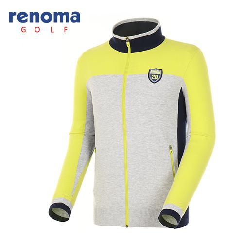 [레노마골프]남성 컬러 블럭 집업 스웨터 RAKC02611-LA