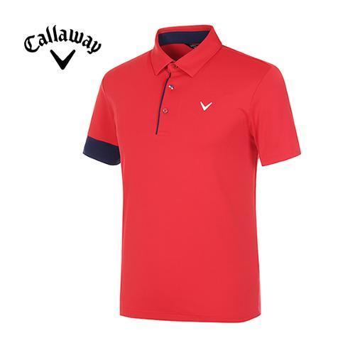 [캘러웨이]남성 컬러 포인트 냉감 반팔 티셔츠 CMTYG2121-500