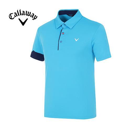 [캘러웨이]남성 컬러 포인트 냉감 반팔 티셔츠 CMTYG2121-901