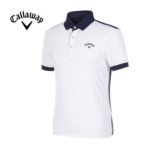 [캘러웨이]남성 메쉬 컬러 블록 스포티 반팔 티셔츠 CMTPG2126-100