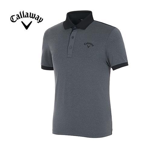 [캘러웨이]남성 메쉬 컬러 블록 스포티 반팔 티셔츠 CMTPG2126-193