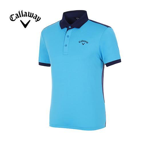 [캘러웨이]남성 메쉬 컬러 블록 스포티 반팔 티셔츠 CMTPG2126-901