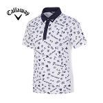 [캘러웨이]남성 올오버 일러스트 프린트 반팔 티셔츠 CMTYG2128-100