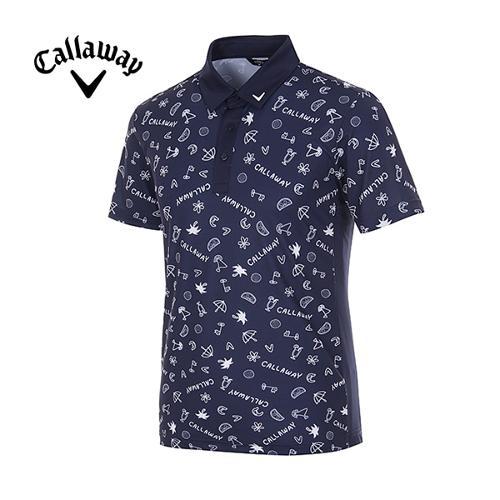 [캘러웨이]남성 올오버 일러스트 프린트 반팔 티셔츠 CMTYG2128-915