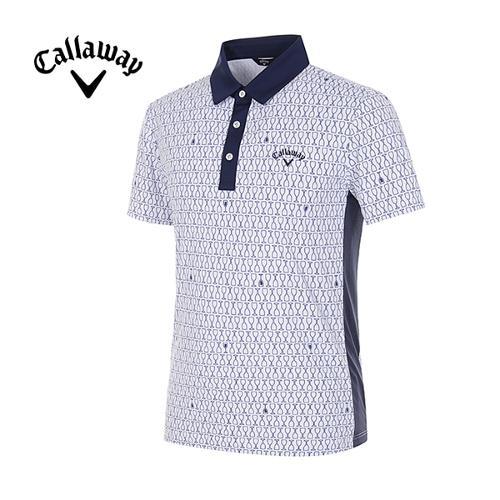 [캘러웨이]남성 올오버 글라스 프린트 반팔 티셔츠 CMTYG2125-100