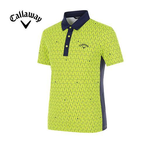 [캘러웨이]남성 올오버 글라스 프린트 반팔 티셔츠 CMTYG2125-204