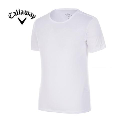 [캘러웨이]남성 솔리드 메쉬 반팔 라운드 베이스 티셔츠 CMTRG2130-100