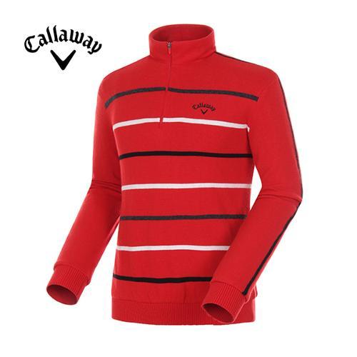[캘러웨이]17FW 남성 방풍 반집업 울 스웨터 CMSHG4251-500