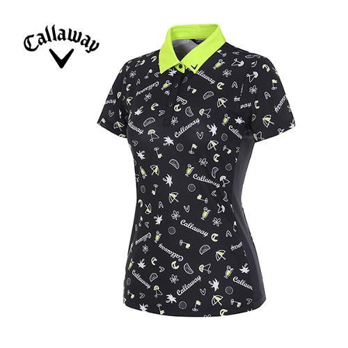 [캘러웨이]여성 일러스트 프린트 반팔 티셔츠 CWTYG6116-199