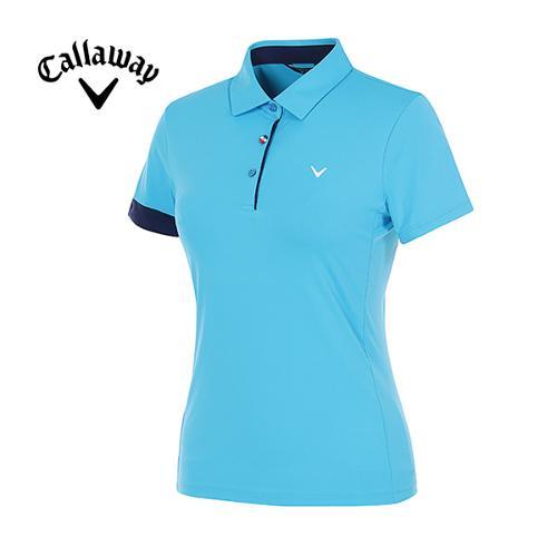 [캘러웨이]여성 컬러 포인트 냉감 반팔 티셔츠 CWTYG6111-901