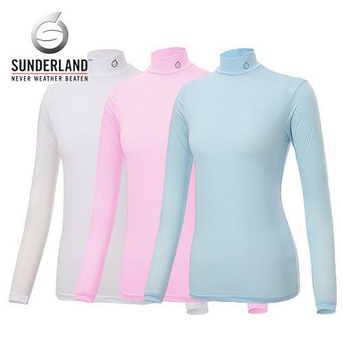선덜랜드 SUNDERLAND 여성 냉감 스판소재 스트라이프 목폴라 기능성티셔츠 - 16212TS02