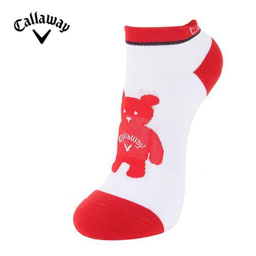[캘러웨이]18SS 여성 곰돌이 캐릭터 스니커즈 양말 CWASH5832-500