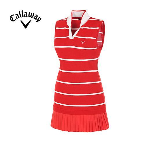 [캘러웨이]여성  스트라이프브이넥 롱 스웨터 CWSRE5252-500