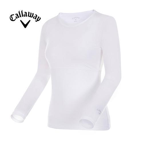 [캘러웨이]여성 솔리드 메쉬 긴팔 레이어 티셔츠 CWTRG6145-100