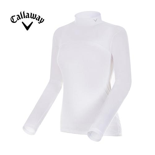 [캘러웨이]여성 하이넥 긴팔 크롭 레이어 티셔츠 CWTHG6146-100