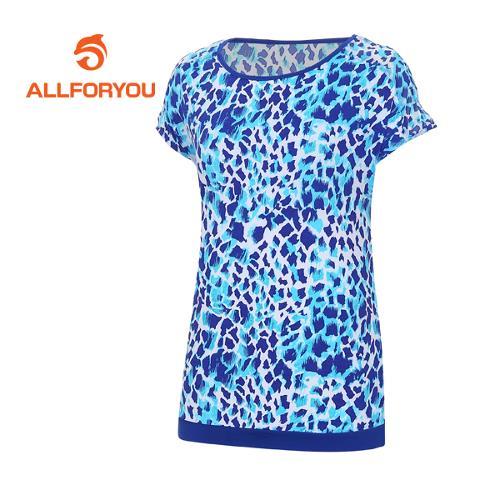 [올포유]여성 호피 패턴 반팔 티셔츠 AWTRE6166-906