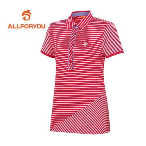 [올포유]여성 스트라이프 반팔 티셔츠 AWTYE6108-500