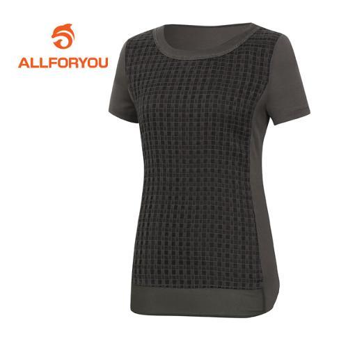 [올포유]여성 네크라인  반팔 티셔츠 AWTRE6157-505