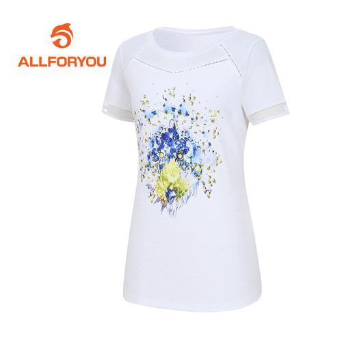 [올포유]여성 보석 반팔 티셔츠 AWTRE6158-100