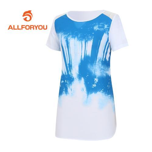 [올포유]여성 우븐 반팔 티셔츠 AWTRE6159-100