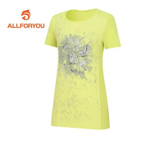 [올포유]여성 비즈 반팔 티셔츠 AWTRE6160-203
