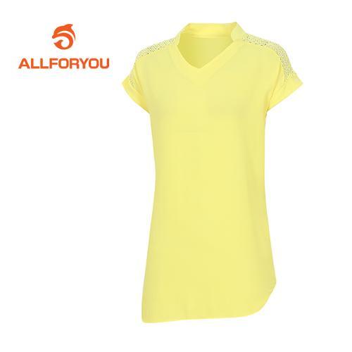 [올포유]여성 레이스 디테일 티셔츠 AWTRE6156-203