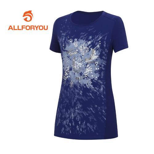[올포유]여성 비즈 반팔 티셔츠 AWTRE6160-915