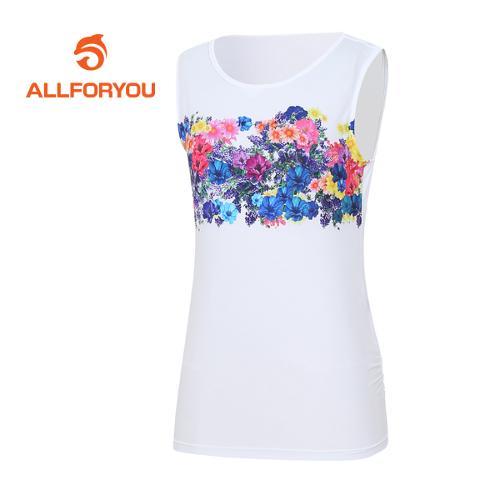 [올포유]여성 꽃 프린트 티셔츠 AWTRE6161-100