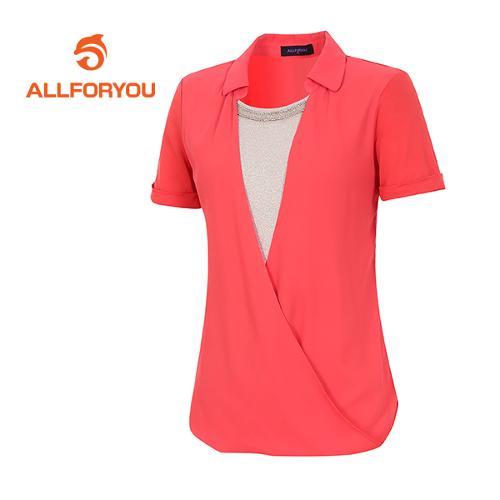 [올포유]여성 드레이핑 볼륨 티셔츠 AWTYE6153-304