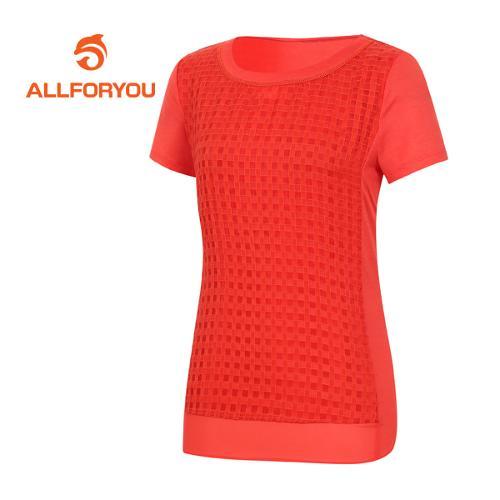 [올포유]여성 네크라인 반팔 티셔츠 AWTRE6157-301