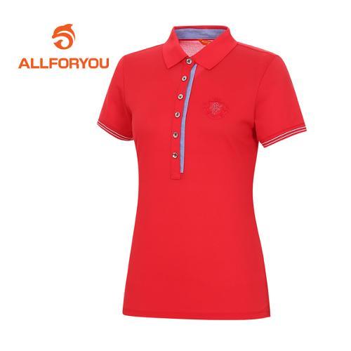 [올포유]여성 단추 반팔 티셔츠 AWTPE6102-500