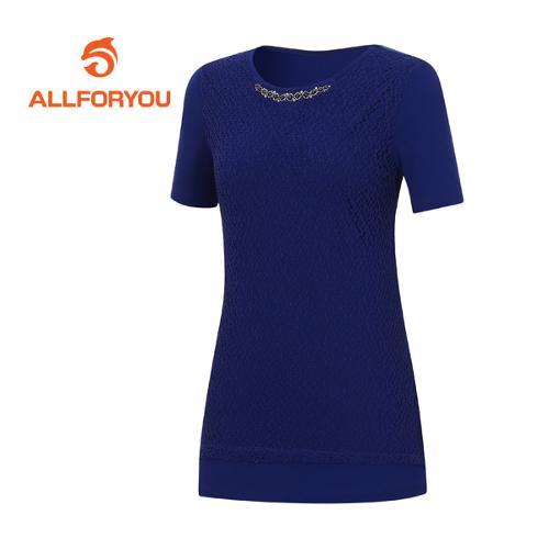 [올포유]여성 페이즐리 반팔 티셔츠 AWTRE6155-906