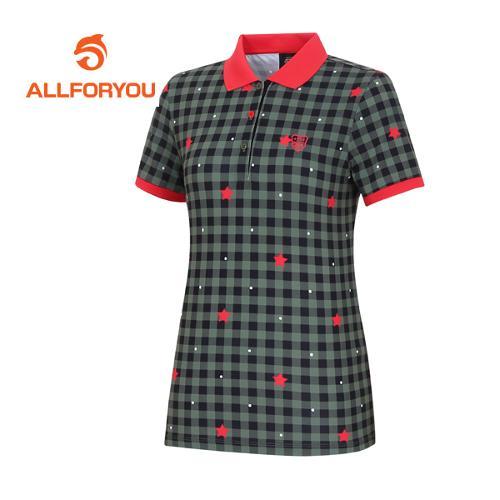 [올포유]여성 별 프린트 반팔 티셔츠 AWTPE6G21-816