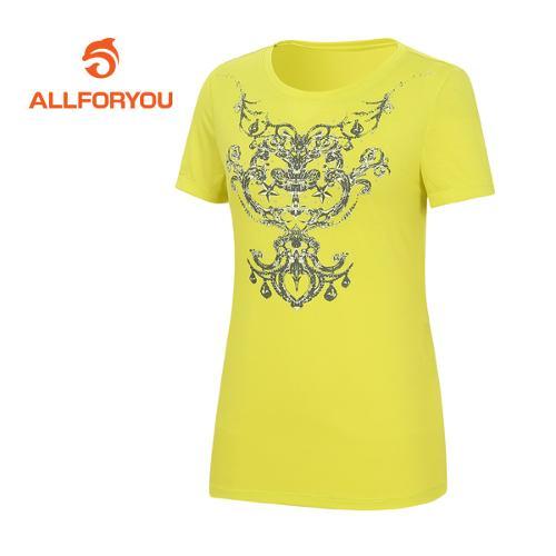 [올포유]여성 문양 프린트 반팔 티셔츠 AWQTE6191-203