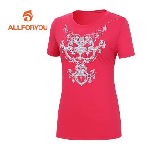 [올포유]여성 문양 프린트 반팔 티셔츠 AWQTE6191-403