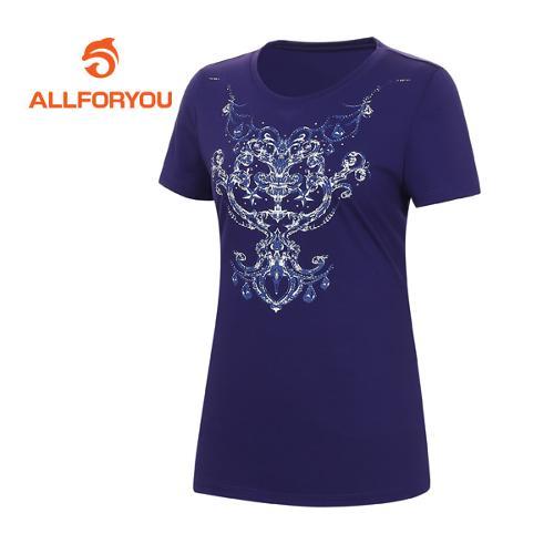 [올포유]여성 문양 프린트 반팔 티셔츠 AWQTE6191-607