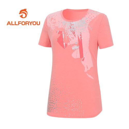 [올포유]여성 레귤러 반팔 티셔츠 AWQTE6192-309