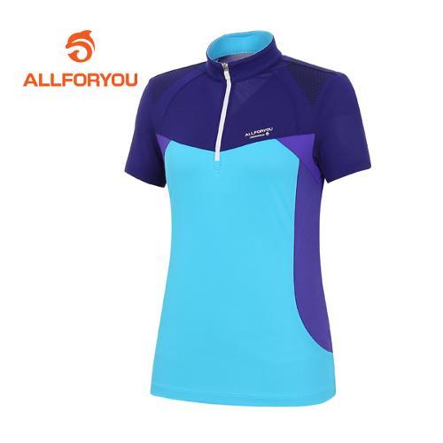 [올포유]여성 어깨 프린트 반팔 티셔츠 AWRTE6142-604